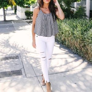 DOLLY COTTON GINGHAM TANK